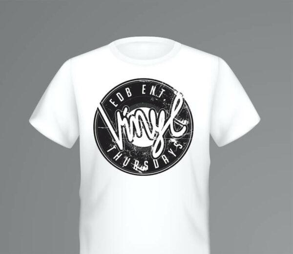 Vinyl Thursdays - T-Shirt - black / white